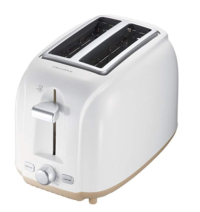 An image of Recolte RPT-1W 800W 2-Slice White Wide Slot Toaster | The Top Toasters