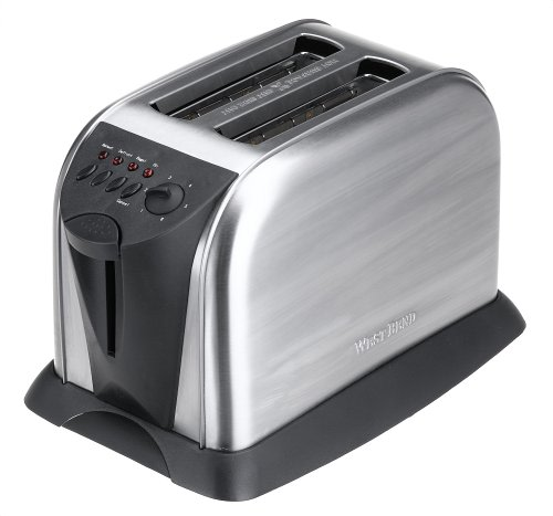 An image of West Bend Stainless Steel 2-Slice Wide Slot Toaster