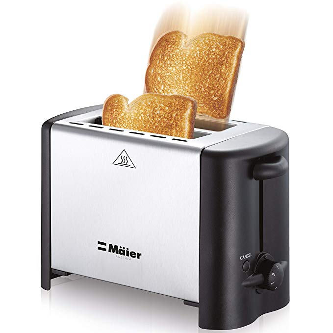 An image related to Mueller Stainless Steel 2-Slice Compact Long Slot Toaster