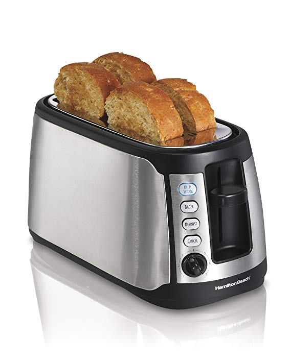 An image of Hamilton Beach 4-Slice Cool Touch Long Slot Toaster