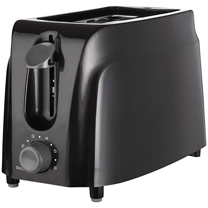 An image of Brentwood 2-Slice Black 6-Mode Cool Touch Toaster