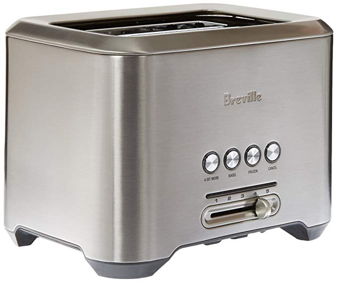 An image of Breville 1800W Stainless Steel 2-Slice 5-Mode Long Slot Toaster | The Top Toasters