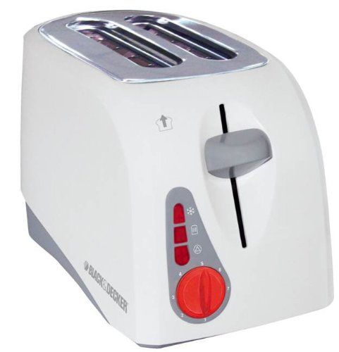 An image of BLACK+DECKER ET202 800W 2-Slice White 7-Mode Toaster