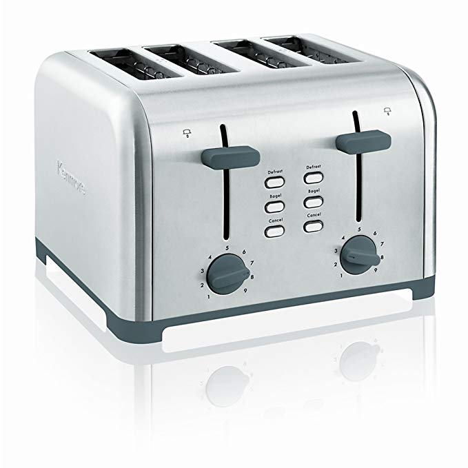An image of Kenmore 00840605 1400W Stainless Steel 4-Slice 9-Mode Long Slot Toaster