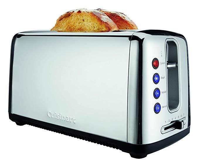 An image of Cuisinart 1500W Chrome 6-Mode Long Slot Toaster