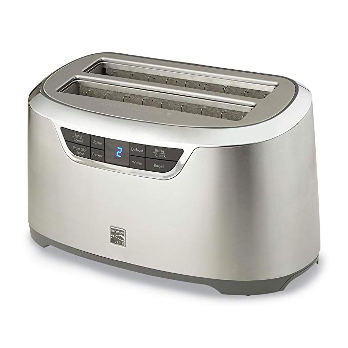An image of Kenmore 876774 Stainless Steel 4-Slice 9-Mode Long Slot Toaster
