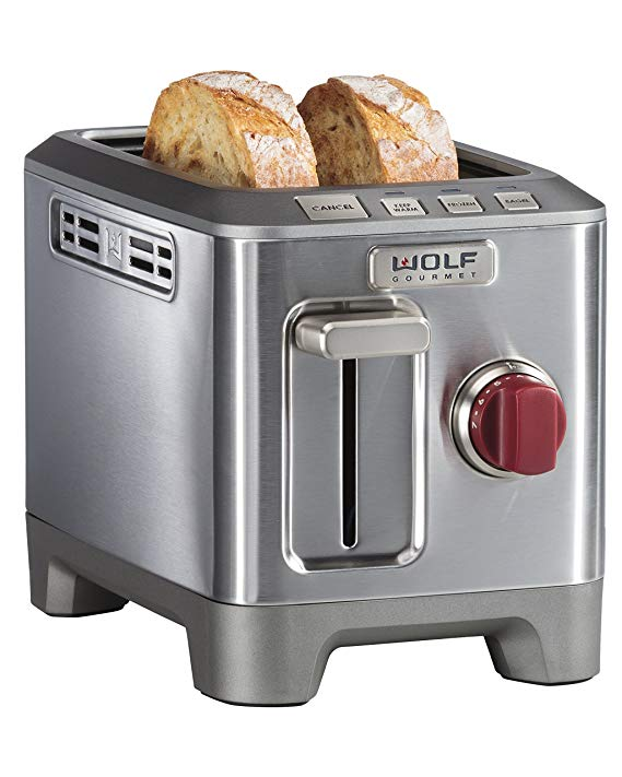An image related to Wolf Gourmet 2-Slice Red Wide Slot Toaster