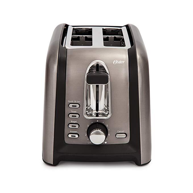 An image of Oster TSSTTRGM2L 2-Slice Black 7-Mode Wide Slot Toaster