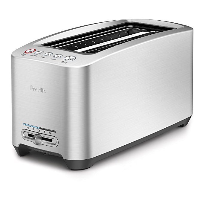 An image of Breville BTA830XL 1600W Stainless Steel 4-Slice 5-Mode Cool Touch Long Slot Toaster