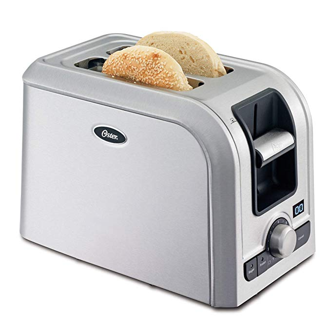 An image of Oster TSSTRTS2S2 Stainless Steel 2-Slice 7-Mode Wide Slot Toaster