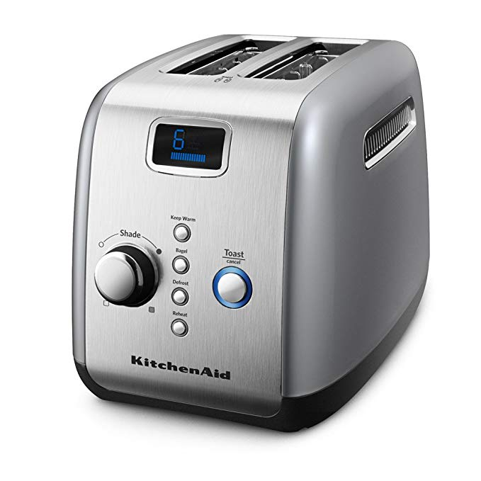 An image related to KitchenAid 120V 2-Slice Silver Wide Slot Toaster