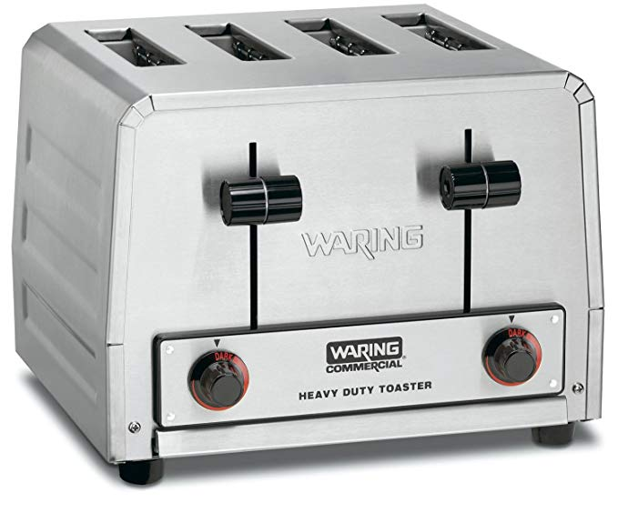 An image of Waring WCT805 2700W Stainless Steel Wide Slot Toaster
