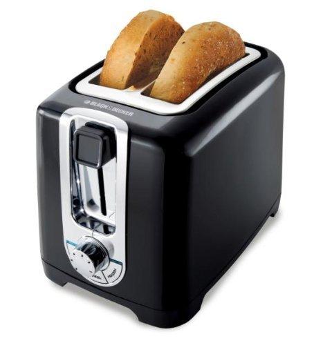 An image of BLACK+DECKER TR1256B-220V 850W 2-Slice Black Wide Slot Toaster