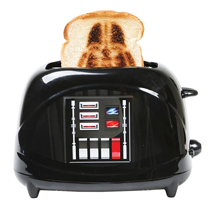 An image related to Uncanny Brands Plastic Darth Vader 2-Slice Black 7-Mode Toaster