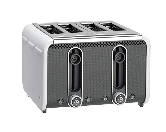 An image of Dualit 4-Slice White 9-Mode Toaster