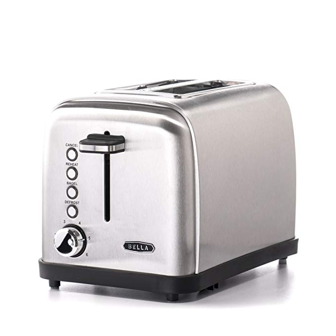 An image related to BELLA 900W Stainless Steel 2-Slice Classic 6-Mode Wide Slot Toaster