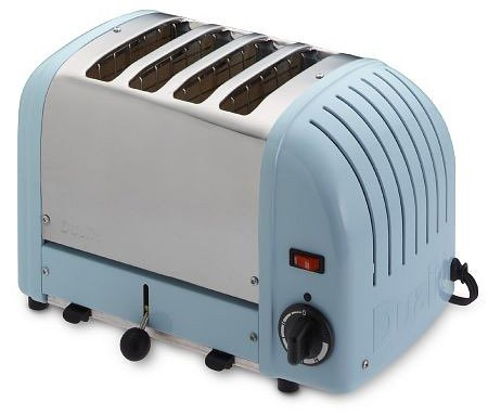 An image related to Dualit Stainless Steel 4-Slice Blue Wide Slot Toaster