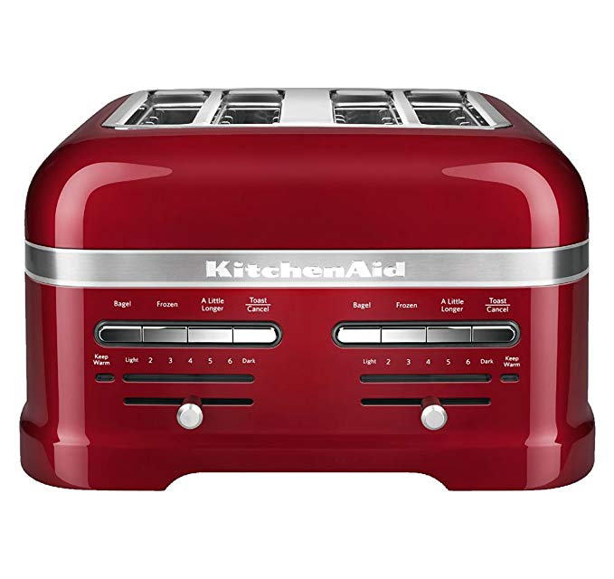 An image of KitchenAid 4-Slice Red 7-Mode Toaster