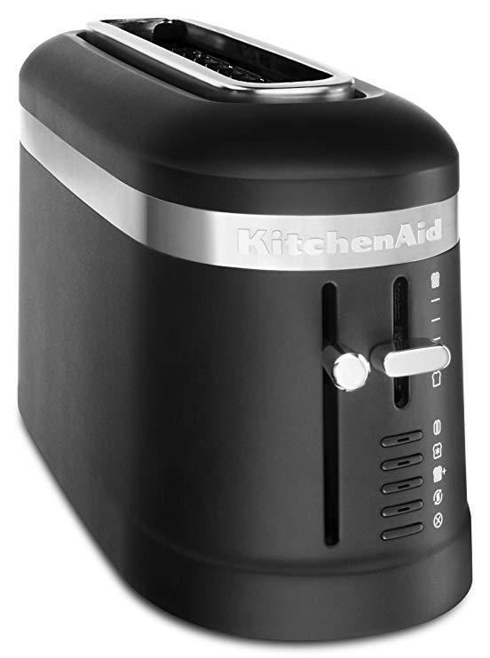 An image of KitchenAid 2-Slice Black Long Slot Toaster