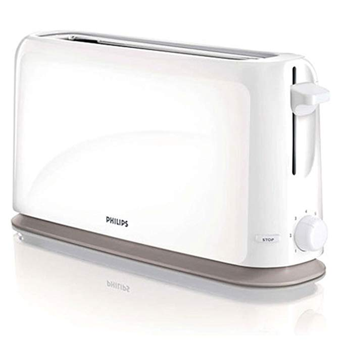 An image of Philips HD2598-00 1150W Plastic 7-Mode Compact Cool Touch Long Slot Toaster