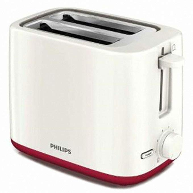 An image of Philips 800W 2-Slice Beige 7-Mode Compact Cool Touch Wide Slot Toaster