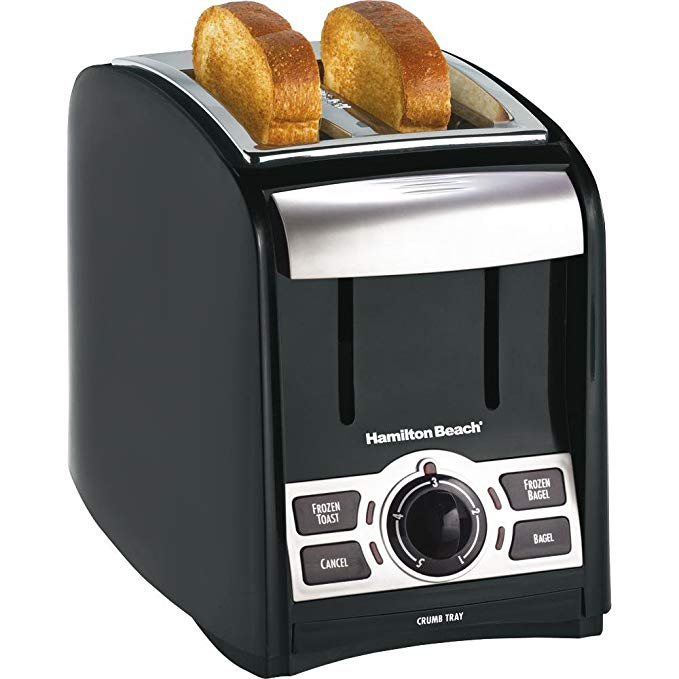 An image related to Hamilton Beach 2-Slice Black and Silver 5-Mode Cool Touch Wide Slot Toaster