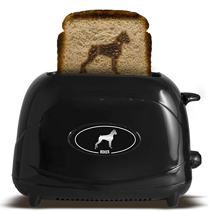 An image related to Uncanny Brands TSTE-PET-BOX Boxer 2-Slice Black Toaster