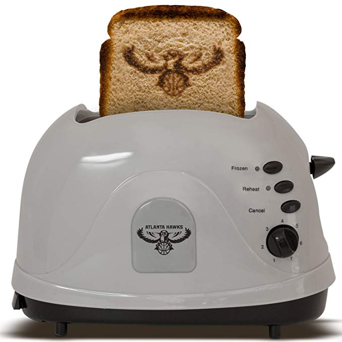 An image related to Uncanny Brands 700W Atlanta Hawks 2-Slice 7-Mode Compact Cool Touch Toaster