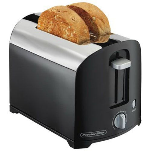 An image related to Proctor Silex 2-Slice Black Cool Touch Wide Slot Toaster