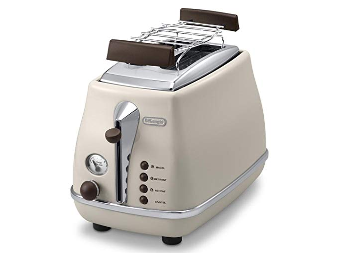 An image related to DeLonghi 900W 2-Slice Vintage Long Slot Toaster