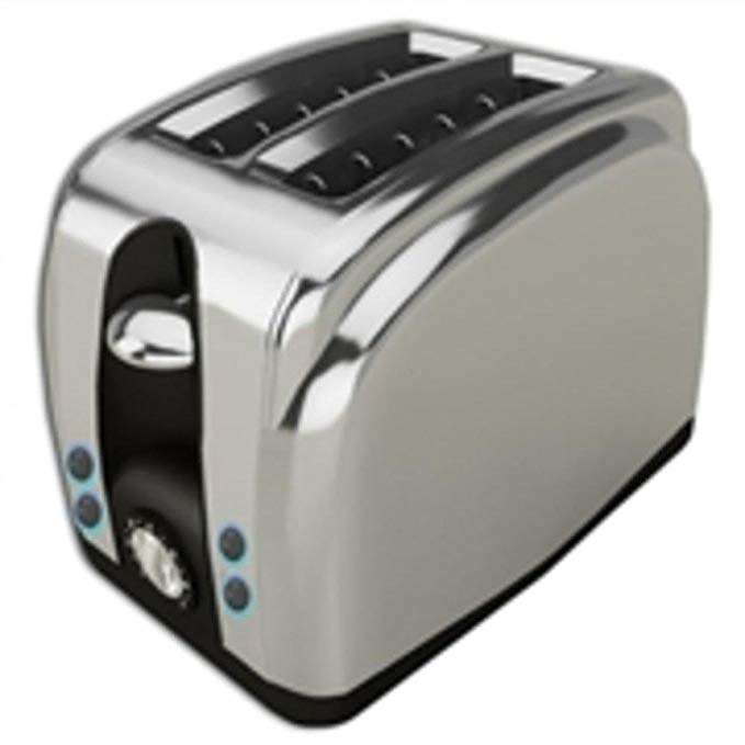An image related to Brentwood TS225S Stainless Steel 2-Slice Toaster