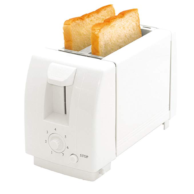 An image of Choicelife 2-Slice White 7-Mode Cool Touch Wide Slot Toaster | The Top Toasters