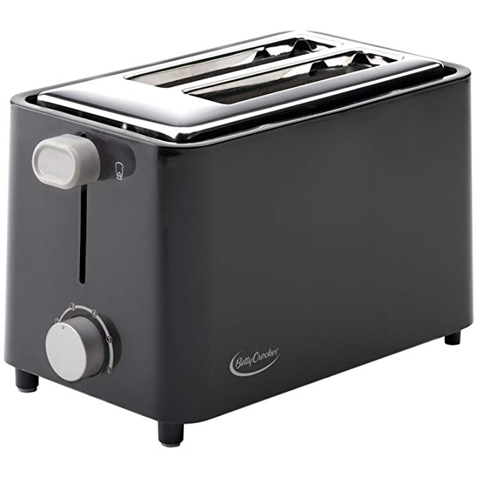 An image related to Betty Crocker 2-Slice Black Cool Touch Wide Slot Toaster