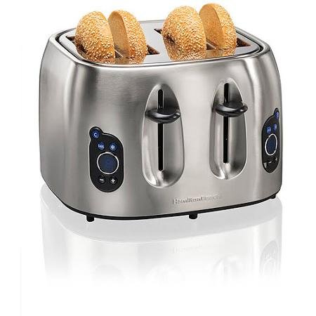 An image of Hamilton Beach Stainless Steel 4-Slice 9-Mode Wide Slot Toaster