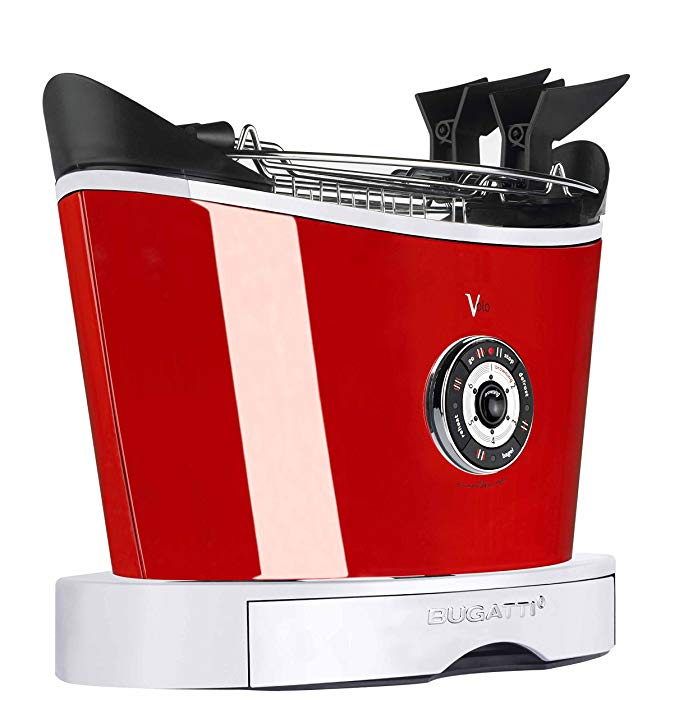 An image of Bugatti 13-VOLOC3-JP 850W Red 6-Mode Toaster | The Top Toasters
