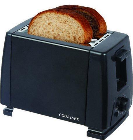 An image of Cookinex 2-Slice Black 6-Mode Toaster