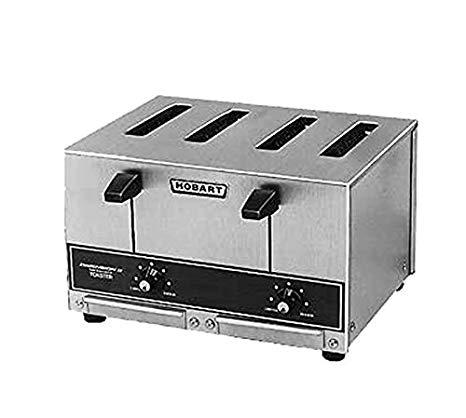 An image of Hobart ET27-6 240V 4-Slice Gray Wide Slot Toaster
