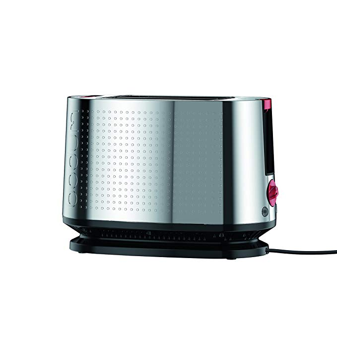 An image related to Bodum 800W 2-Slice Modern Silver Toaster