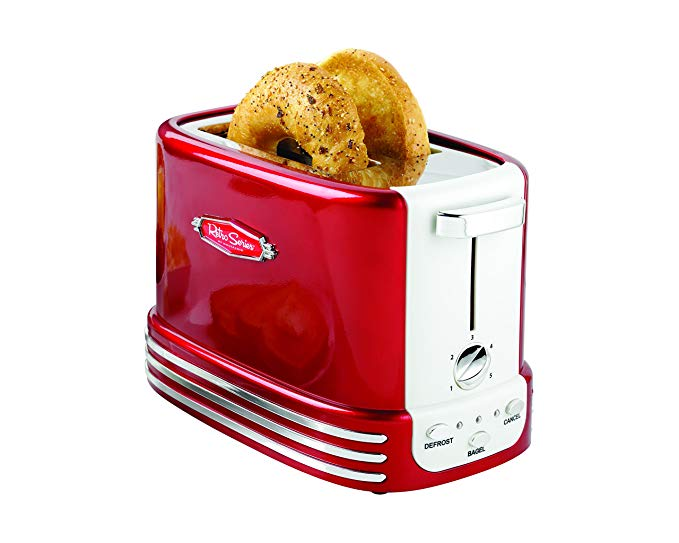 An image related to Nostalgia 900W 2-Slice Long Slot Toaster