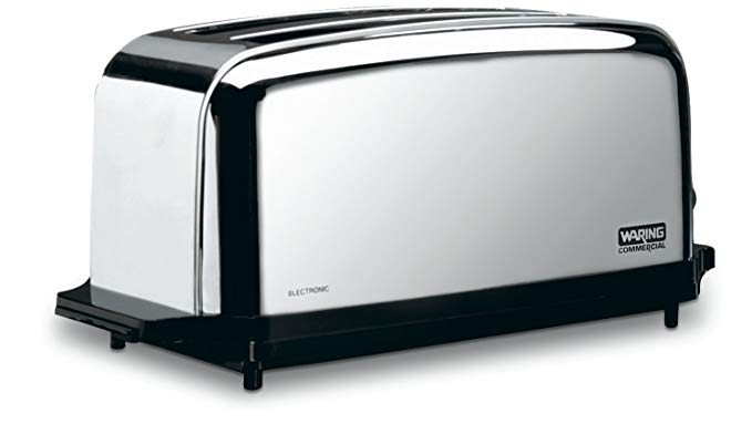 An image of Waring 1800W 4-Slice Silver Long Slot Toaster