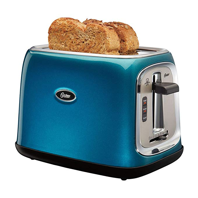 An image related to Oster Stainless Steel 2-Slice Blue 7-Mode Wide Slot Toaster