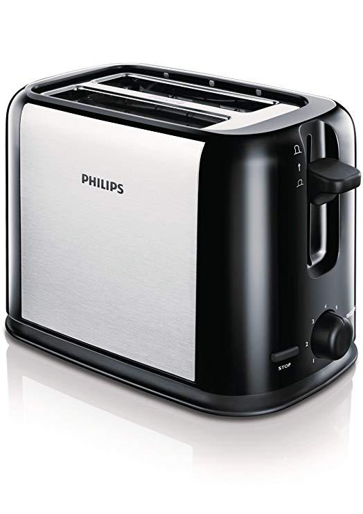 An image of Philips 870W Stainless Steel Silver 7-Mode Cool Touch Toaster