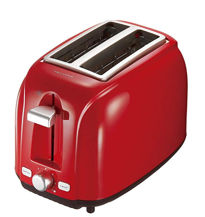 An image related to Recolte RPT-1R 800W Red Wide Slot Toaster