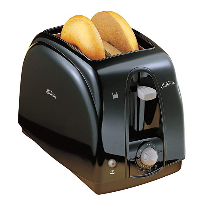An image related to Sunbeam 3910-100 2-Slice Black 7-Mode Cool Touch Wide Slot Toaster