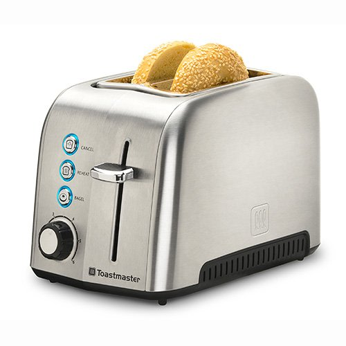 An image of Toastmaster Stainless Steel 2-Slice 6-Mode Wide Slot Toaster | The Top Toasters
