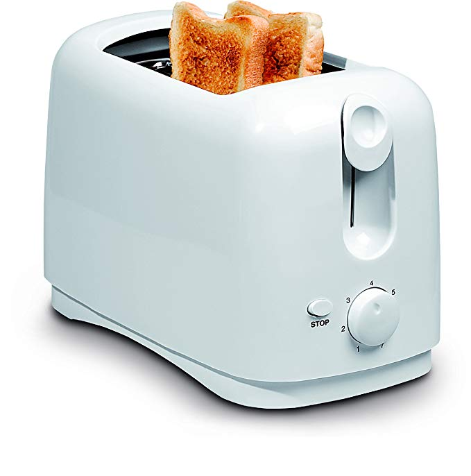 An image related to Uniware 750W 2-Slice White Cool Touch Wide Slot Toaster