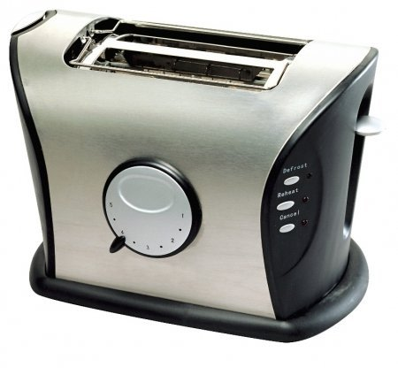 An image of Frigidaire 850W Stainless Steel 2-Slice Wide Slot Toaster | The Top Toasters