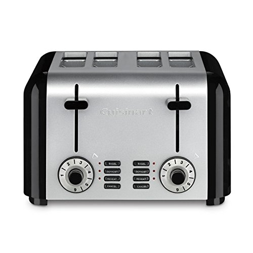 An image related to Cuisinart 4-Slice Classic Black 6-Mode Wide Slot Toaster