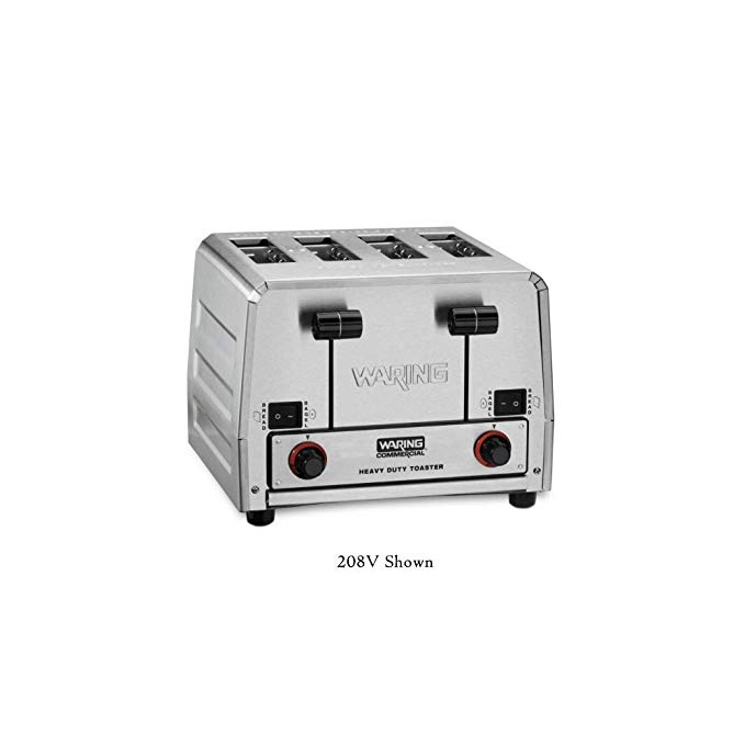 An image of Waring 800W 4-Slice Silver Wide Slot Toaster | The Top Toasters