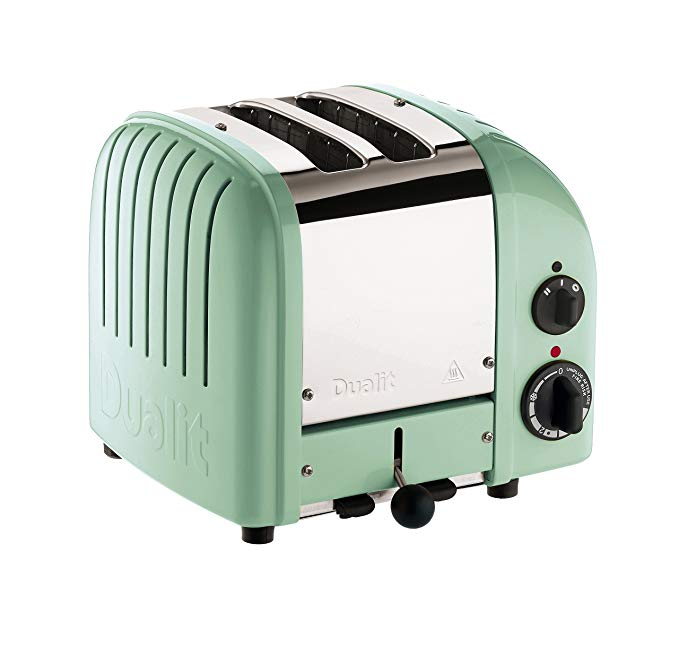 An image related to Dualit Stainless Steel 2-Slice Green Wide Slot Toaster